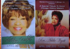 A Special Tribute To Honor Chicago History Makers with Josephine Wade