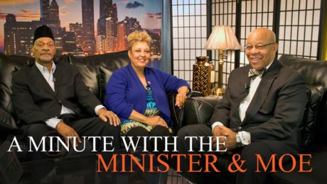 """A Minute With the Minister & Moe. Hosts: Mitchell L. Johnson and Maureen """"Moe"""" Forte. Special Guest: Floyd Davis"""