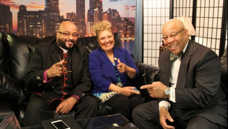 """A Minute With the Minister & Moe. Hosts: Mitchell L. Johnson and Maureen """"Moe"""" Forte. Special Guest: Bishop Kenneth Franklin D.D."""