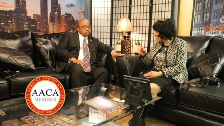 THE STRAUSBERG REPORT With CHINTA STRAUSBERG. GUEST: OMAR SHAREEF OF THE AFRICAN AMERICAN CONTRACTORS ASSOCIATION.