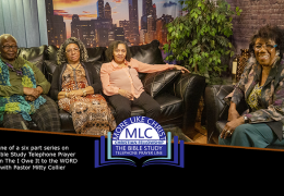 I Owe It All To The WORD Show with Pastor Mitty Collier. The Bible Study Telephone Prayer Line.